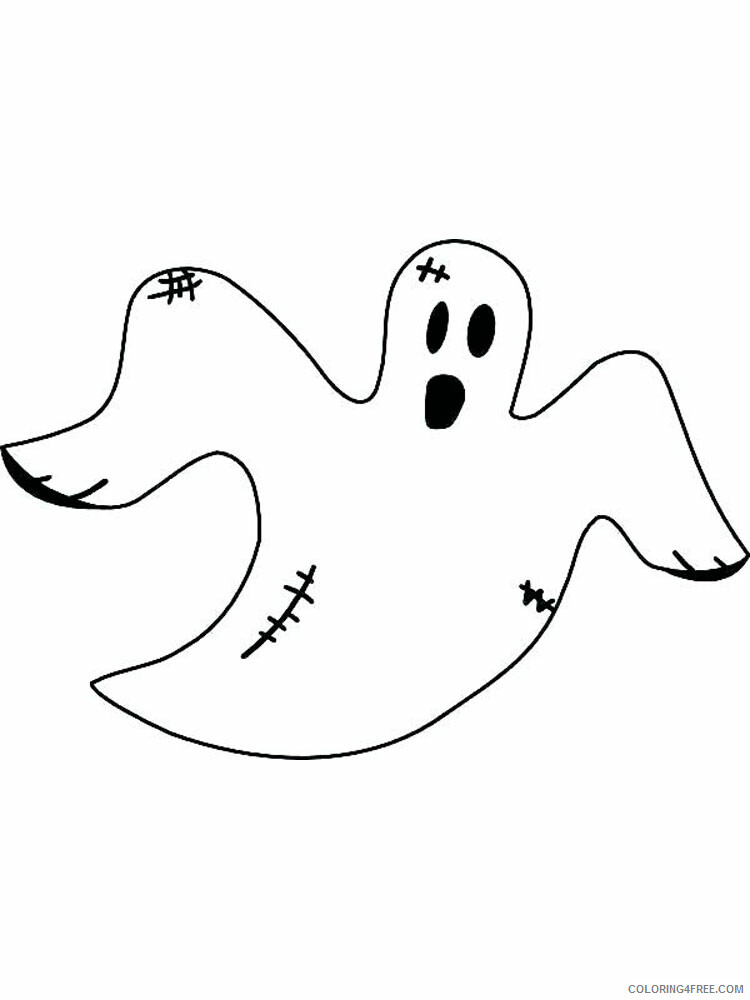 Ghost Coloring Pages GHOST 6 Printable 2021 2819 Coloring4free