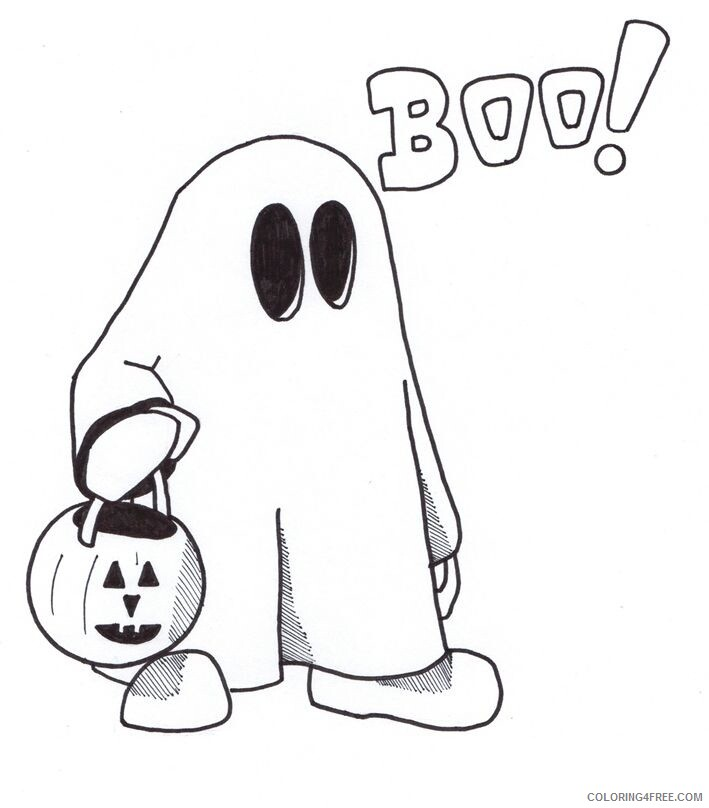 Ghost Coloring Pages Ghost Free Printable 2021 2828 Coloring4free