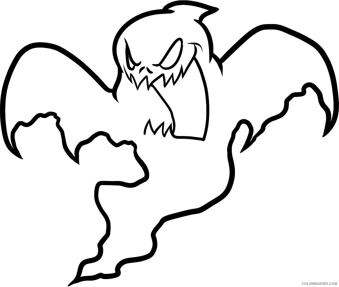 Ghost Coloring Pages Ghost Photos Printable 2021 2825 Coloring4free