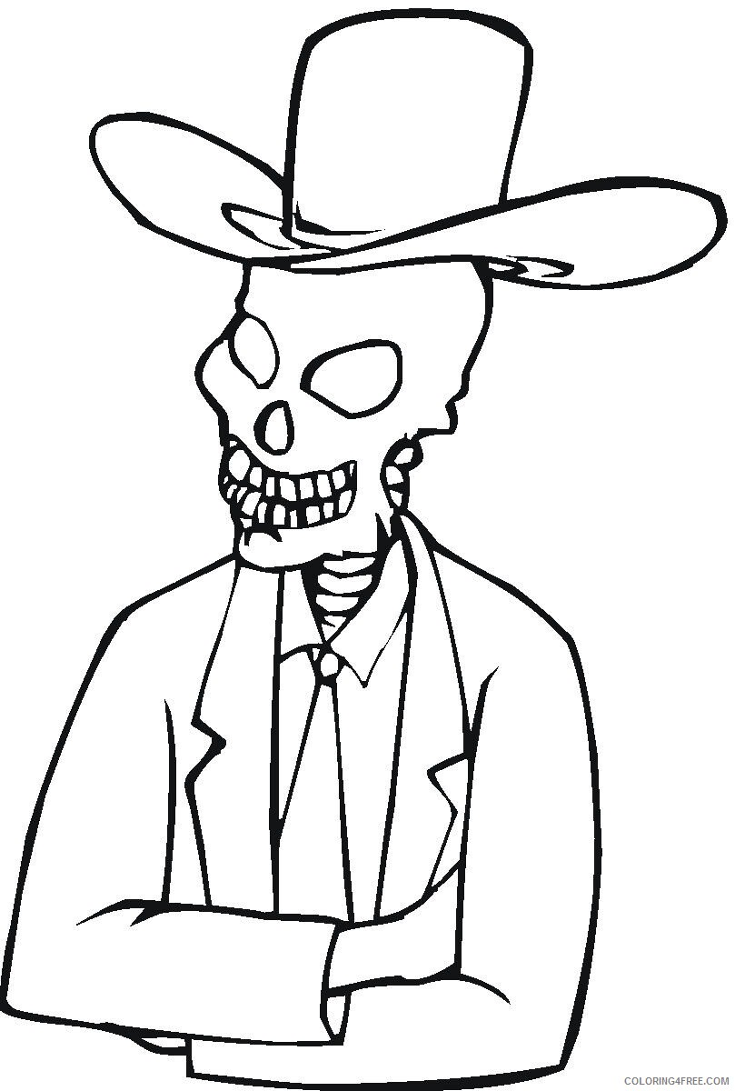 Ghost Coloring Pages Ghost Skeleton Printable 2021 2829 Coloring4free