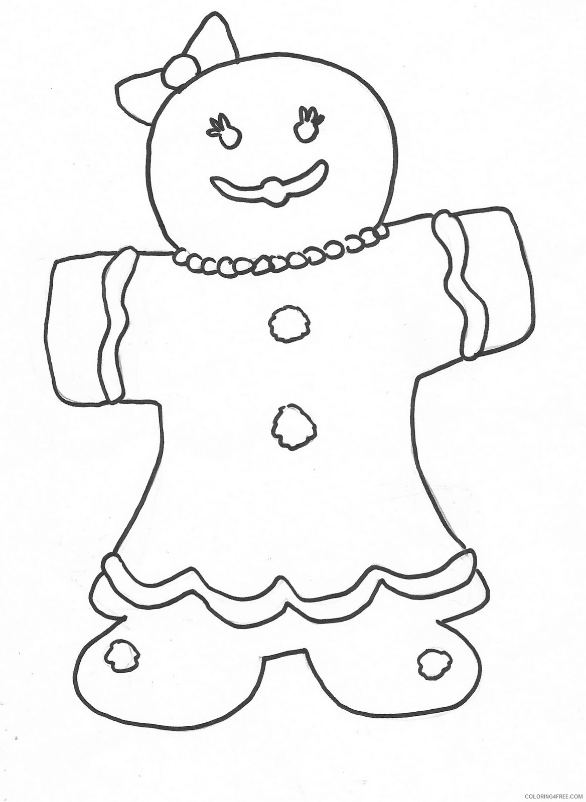 Gingerbread Coloring Pages Gingerbread Man Printable 2021 2892 Coloring4free