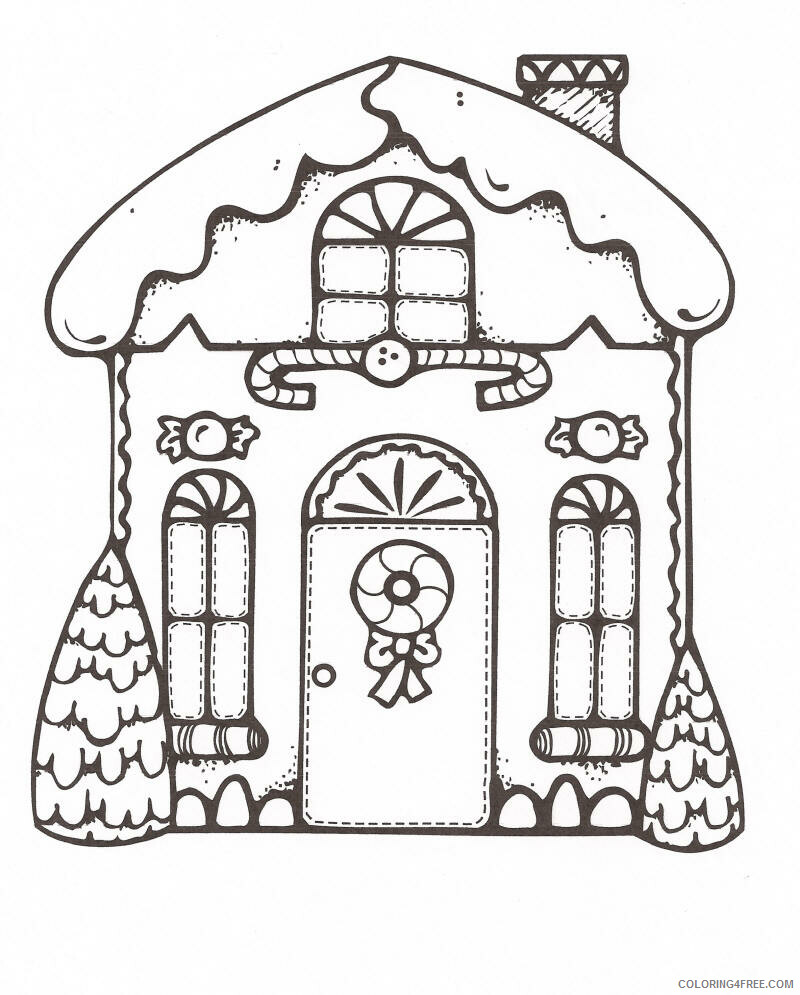 Gingerbread House Coloring Pages Printable Gingerbread House Printable 2021 2906 Coloring4free