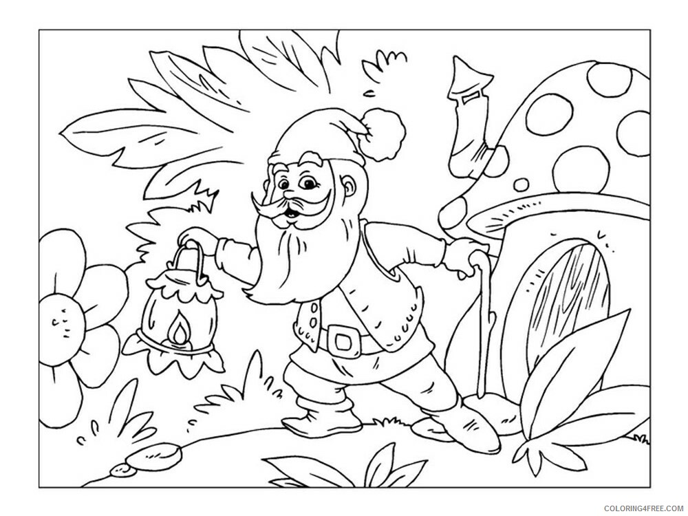Gnome Coloring Pages Gnome 17 Printable 2021 2931 Coloring4free