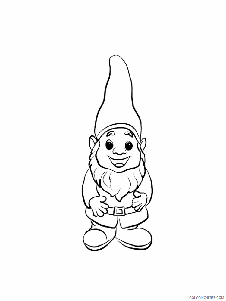 Gnome Coloring Pages Gnome 22 Printable 2021 2936 Coloring4free