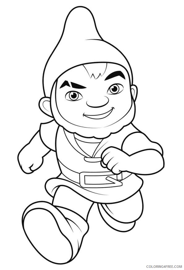 Gnomes Coloring Pages 1532049958_gnomeo running a4 Printable 2021 2946 Coloring4free
