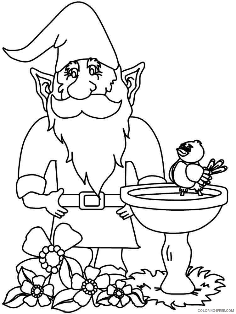 Gnomes Coloring Pages Gnomes 12 Printable 2021 2964 Coloring4free