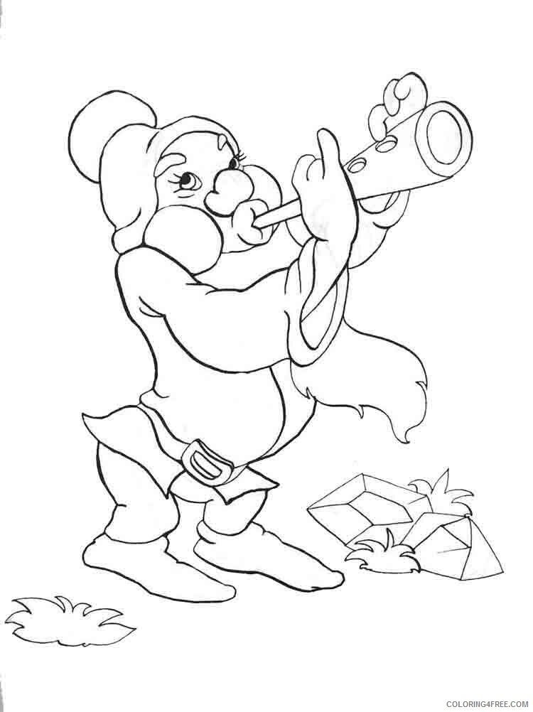 Gnomes Coloring Pages Gnomes 13 Printable 2021 2965 Coloring4free