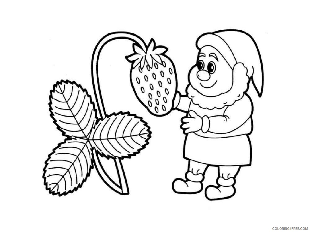 Gnomes Coloring Pages Gnomes 9 Printable 2021 2979 Coloring4free