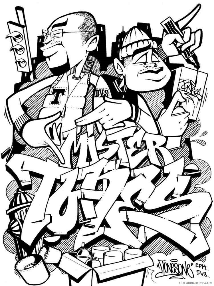 Graffiti Coloring Pages graffiti 18 Printable 2021 2993 Coloring4free