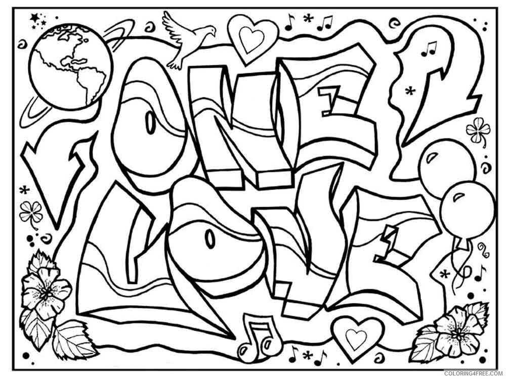 Graffiti Coloring Pages graffiti 4 Printable 2021 2994 Coloring4free