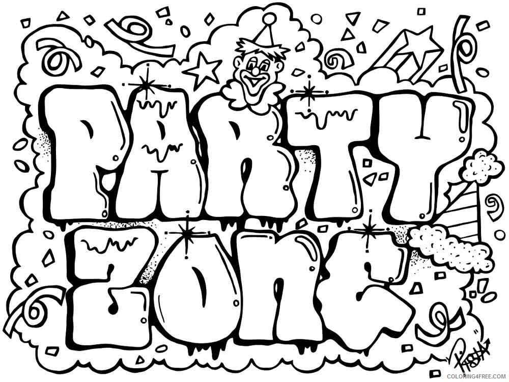 Graffiti Coloring Pages graffiti 7 Printable 2021 2995 Coloring4free