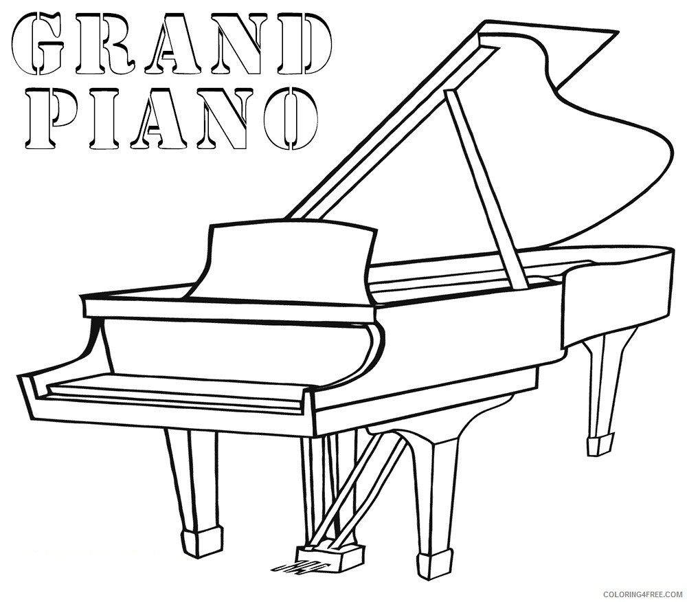 Grand Piano Coloring Pages Printable 2021 3003 Coloring4free