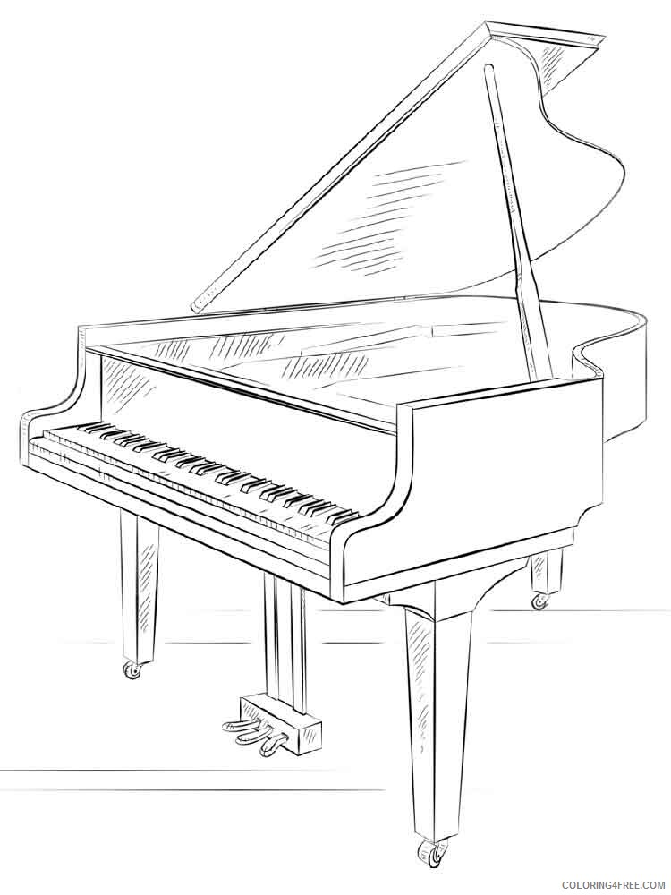 Grand Piano Coloring Pages grand piano 4 Printable 2021 3006 Coloring4free