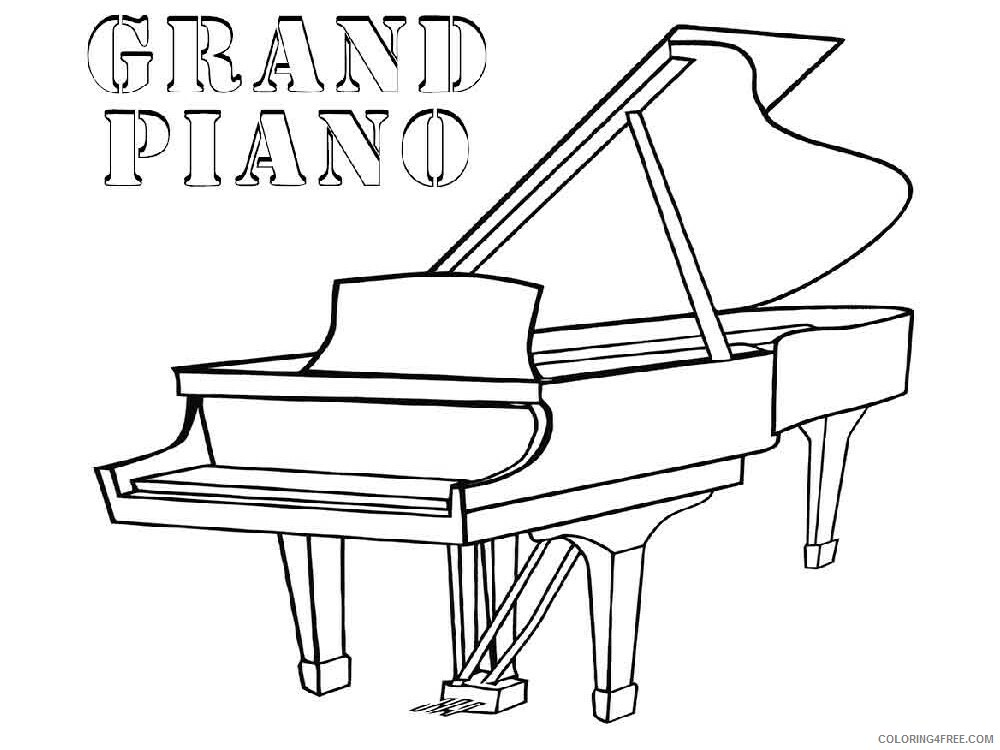 Grand Piano Coloring Pages grand piano 8 Printable 2021 3008 Coloring4free