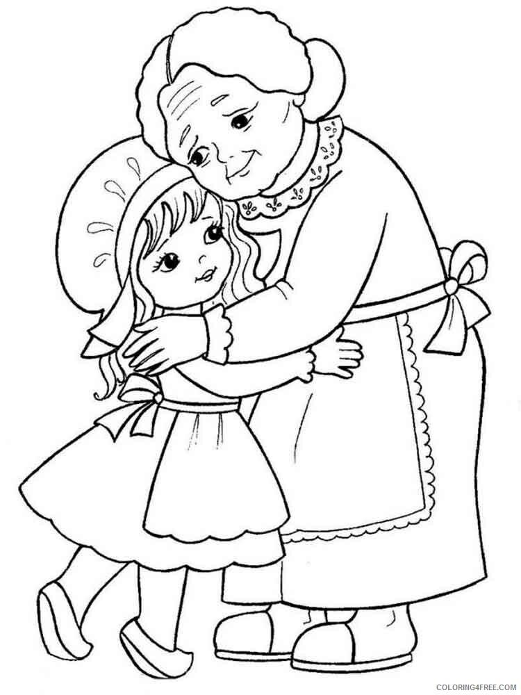 Grandma Coloring Pages grandma 6 Printable 2021 3013 Coloring4free