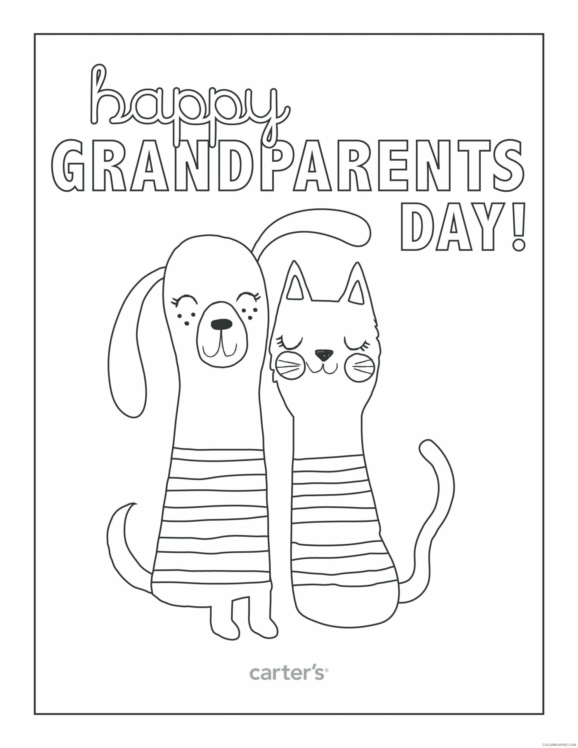 Grandparents Coloring Pages Grandparents Day Free Printable 2021 3026 Coloring4free