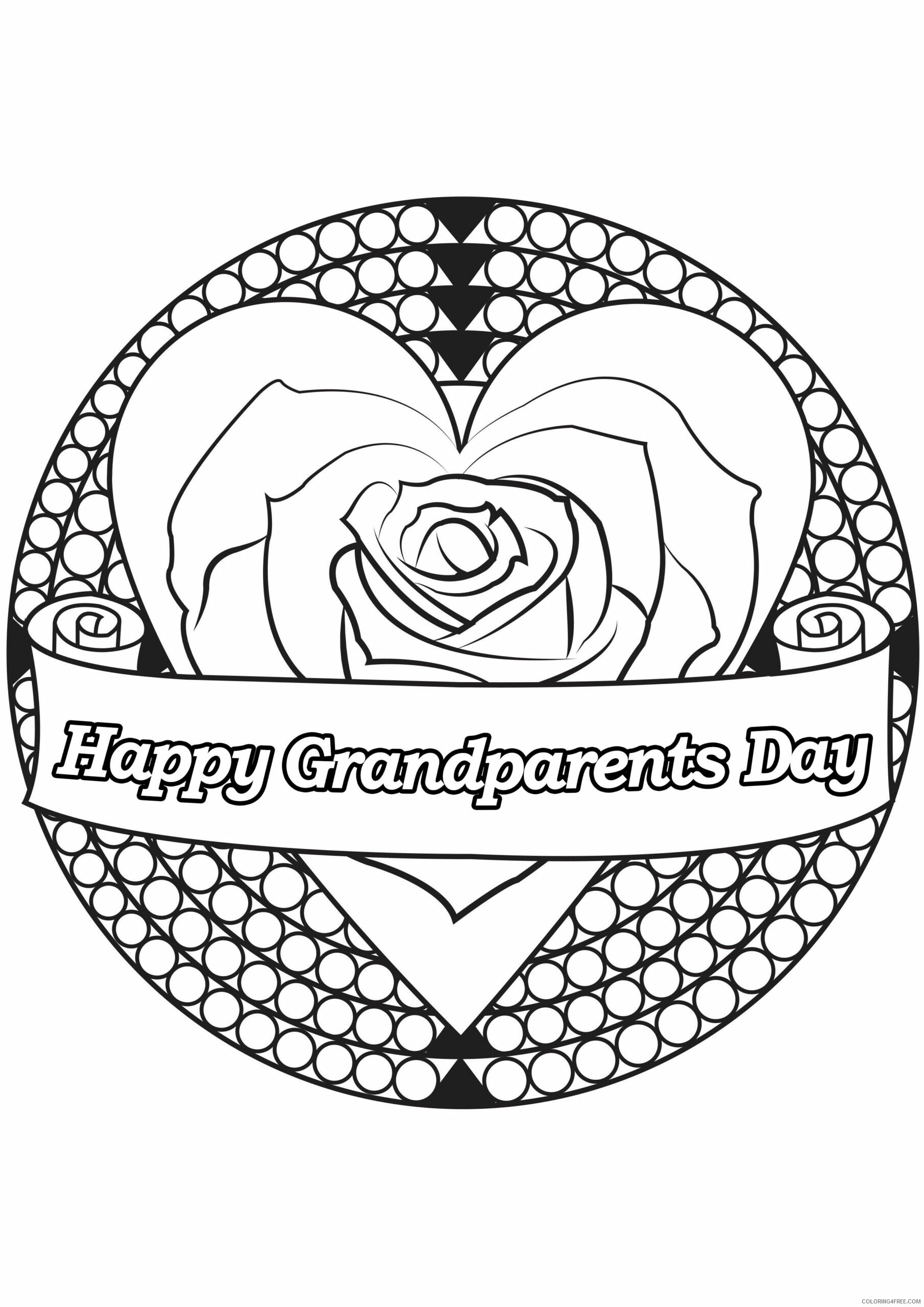 Grandparents Coloring Pages Grandparents Day Printable 2021 3024 Coloring4free