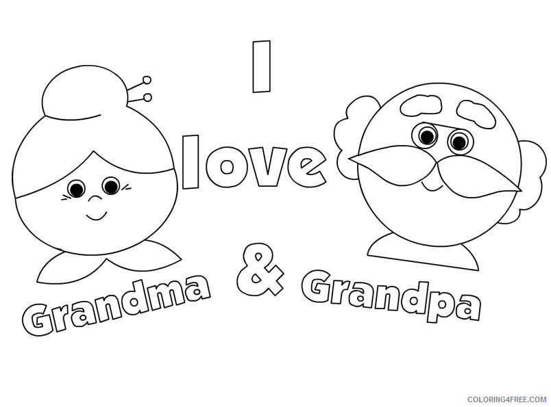 Grandparents Coloring Pages Love My Grandparents Day Printable 2021 3031 Coloring4free