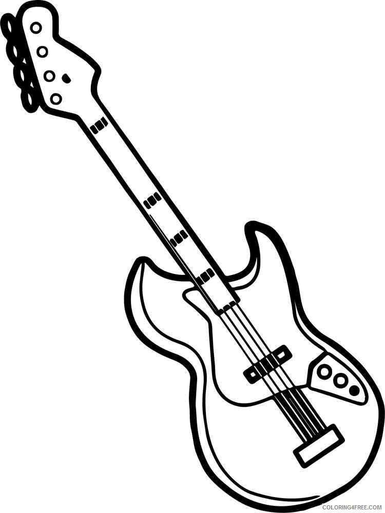 Guitar Coloring Pages guitar 10 Printable 2021 3045 Coloring4free