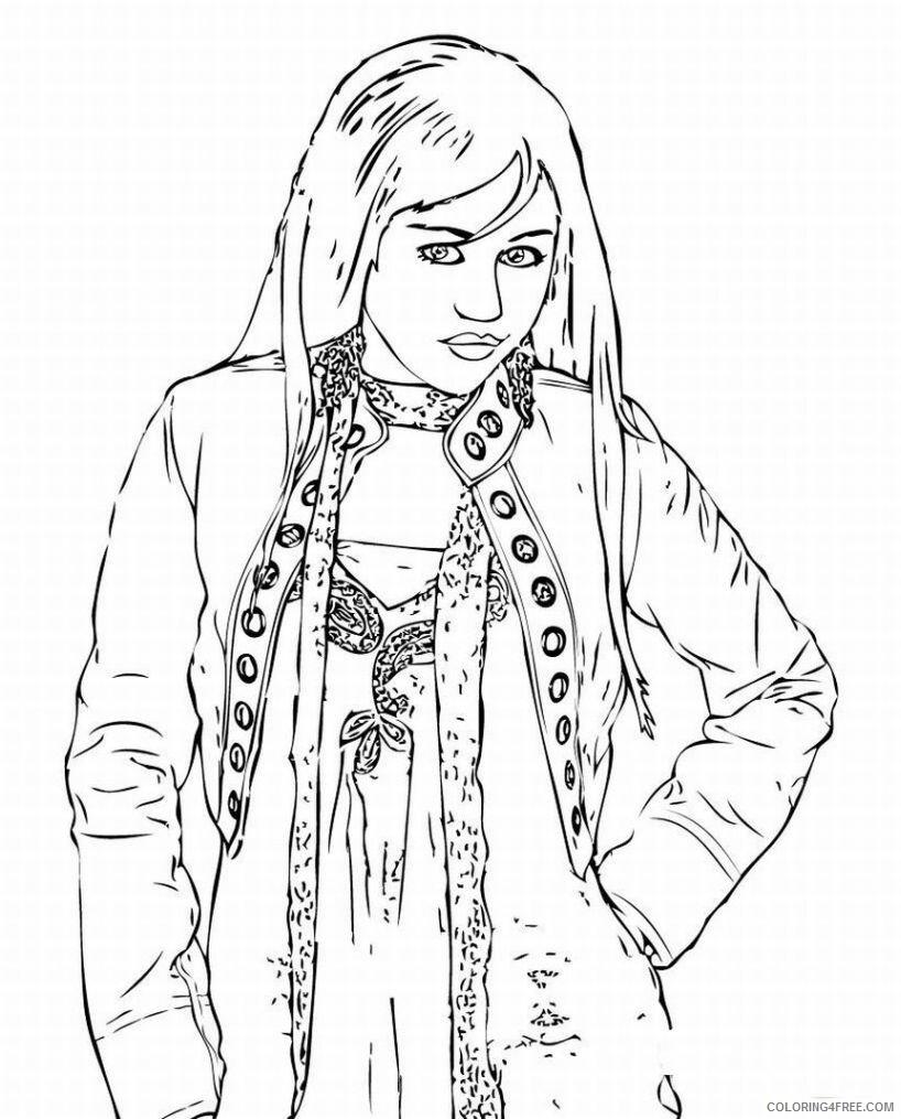 Hannah Montana Coloring Pages hannah montana miley cyrus 10 Printable 2021 Coloring4free