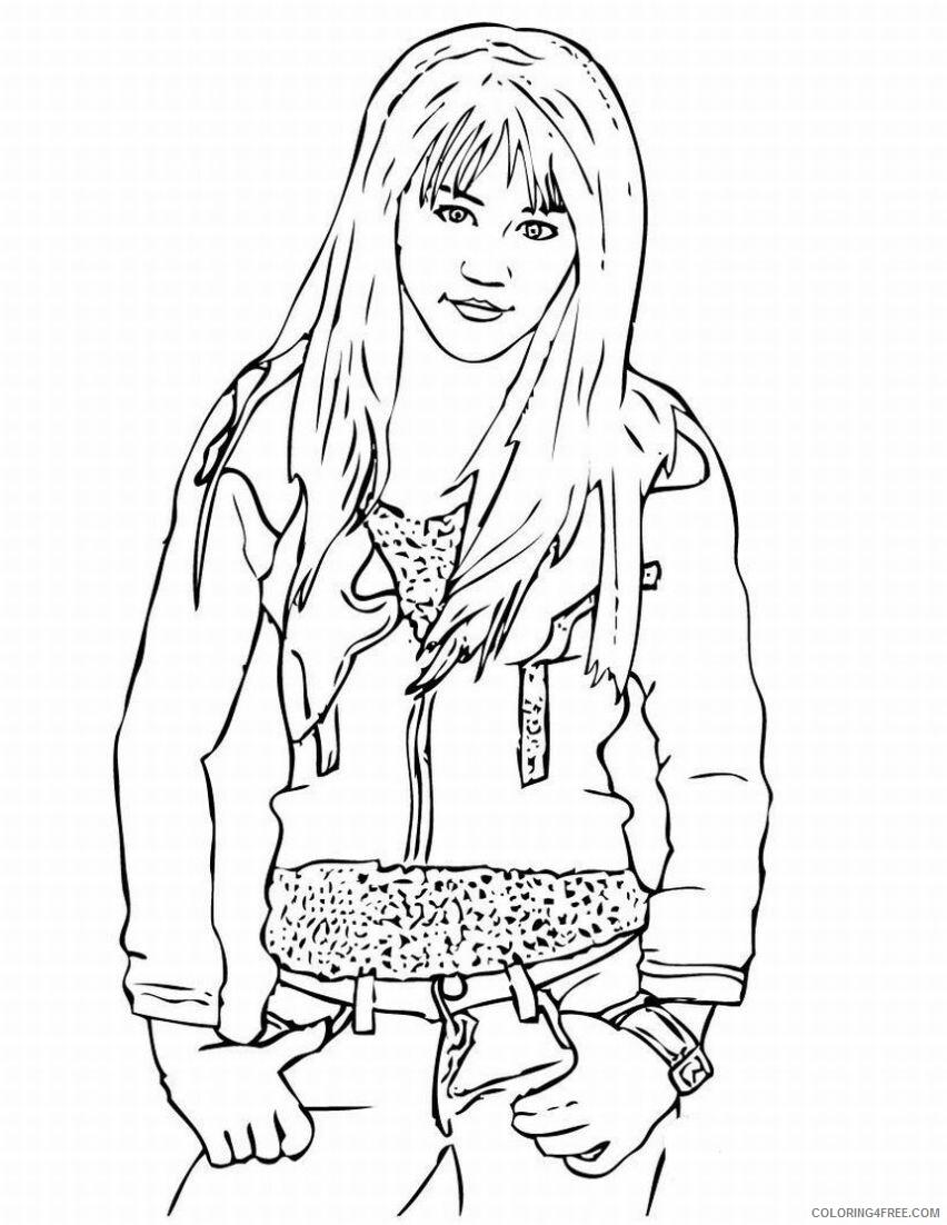 Hannah Montana Coloring Pages hannah montana miley cyrus 11 Printable 2021 Coloring4free