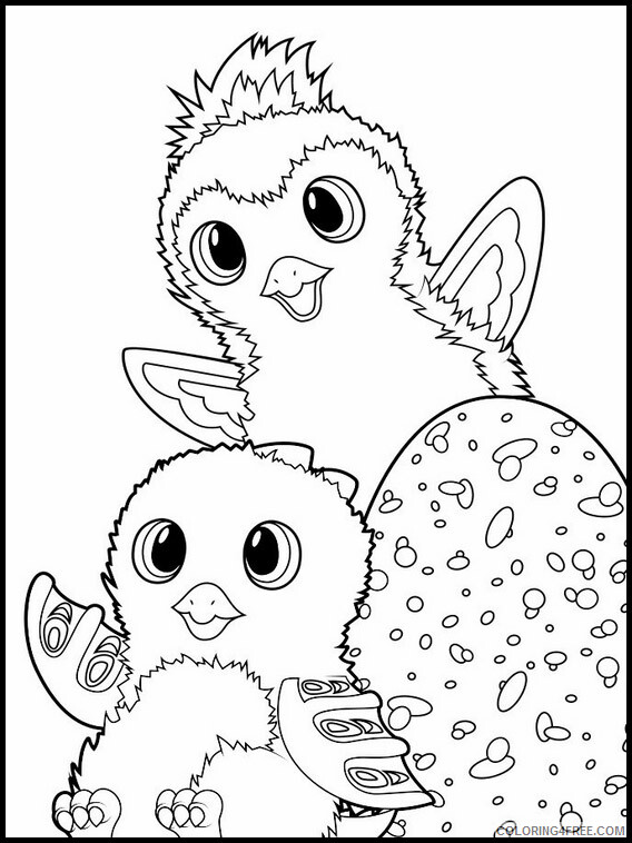 Hatchimals Coloring Pages Cute Hatchimals Printable 2021 3065 Coloring4free