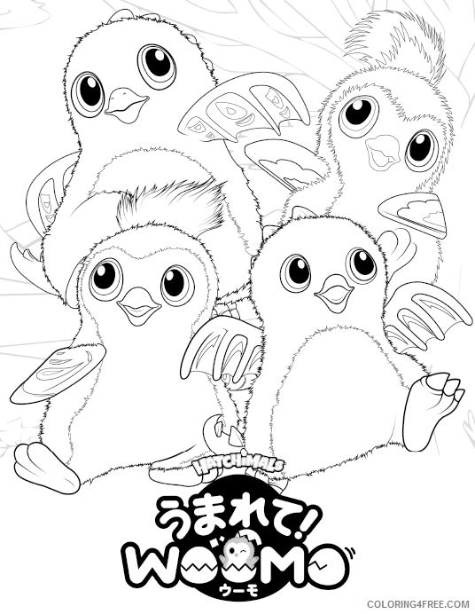 Hatchimals Coloring Pages Free Hatchimals Printable 2021 3066 Coloring4free