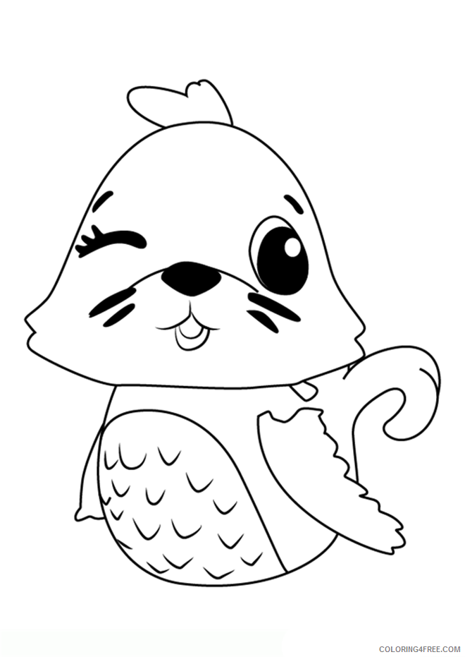 Hatchimals Coloring Pages Hatchimals Seal Printable 2021 3101 Coloring4free