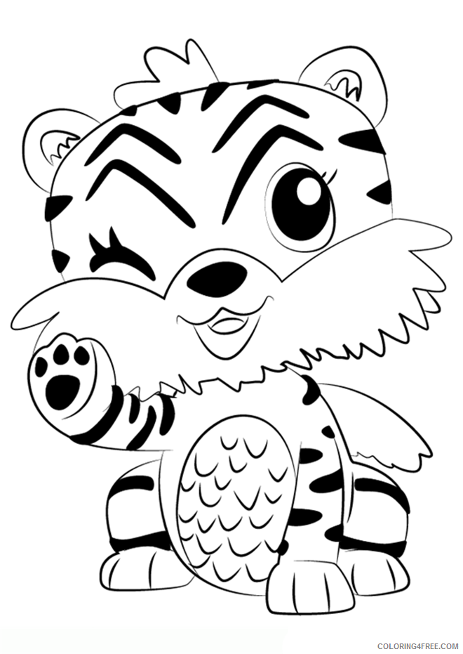 Hatchimals Coloring Pages Hatchimals Tiger Printable 2021 3102 Coloring4free