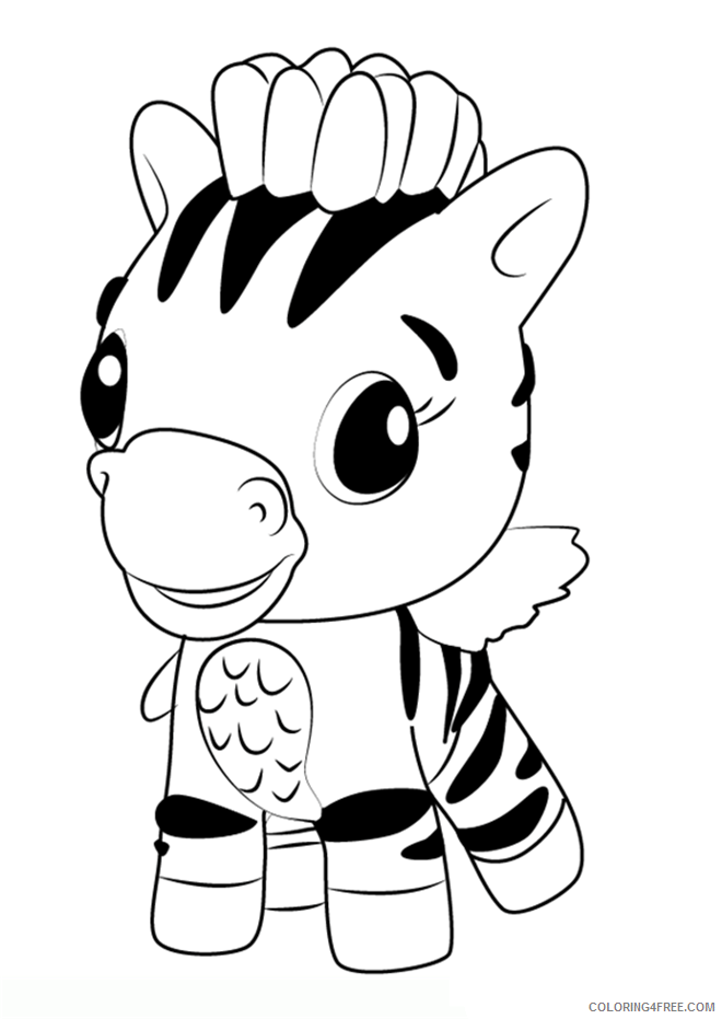 Hatchimals Coloring Pages Hatchimals Zebra Printable 2021 3103 Coloring4free
