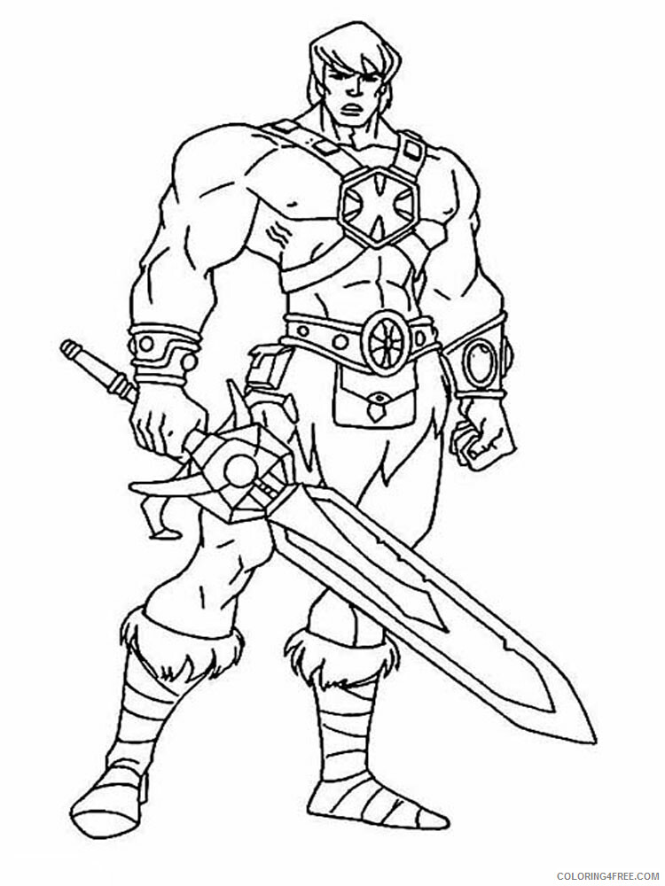 He Man Coloring Pages he man for boys 17 Printable 2021 3264 Coloring4free