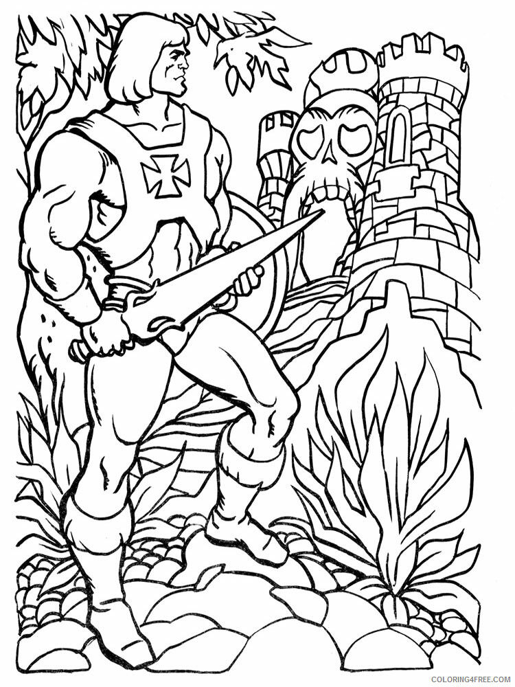 He Man Coloring Pages he man for boys 4 Printable 2021 3267 Coloring4free