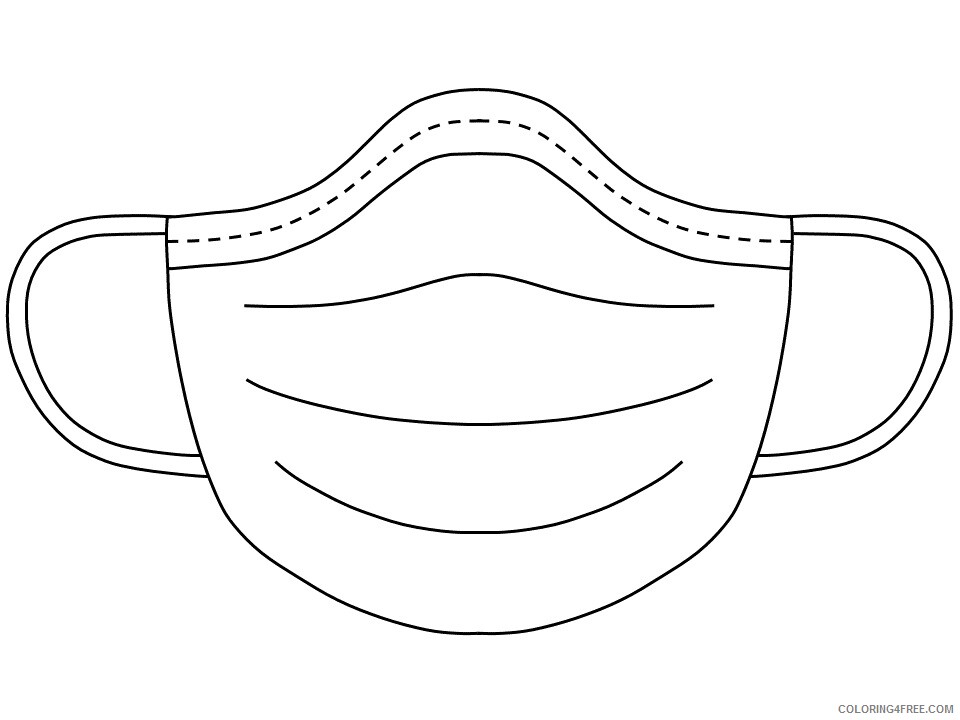 Health Coloring Pages face mask Printable 2021 3126 Coloring4free