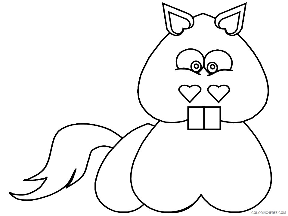 Heart Animal Coloring Pages heart horse Printable 2021 3210 Coloring4free