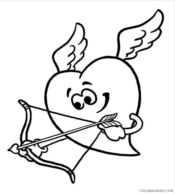 Heart Coloring Pages Heart Cupid Printable 2021 3163 Coloring4free