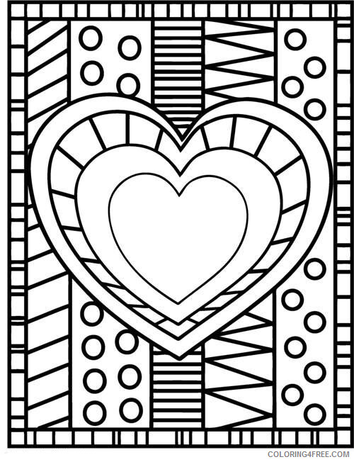Heart Coloring Pages Heart Design Printable 2021 3165 Coloring4free