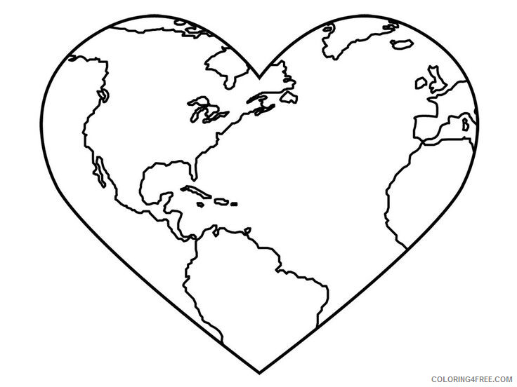 Heart Coloring Pages Heart Earth Day Printable 2021 3166 Coloring4free