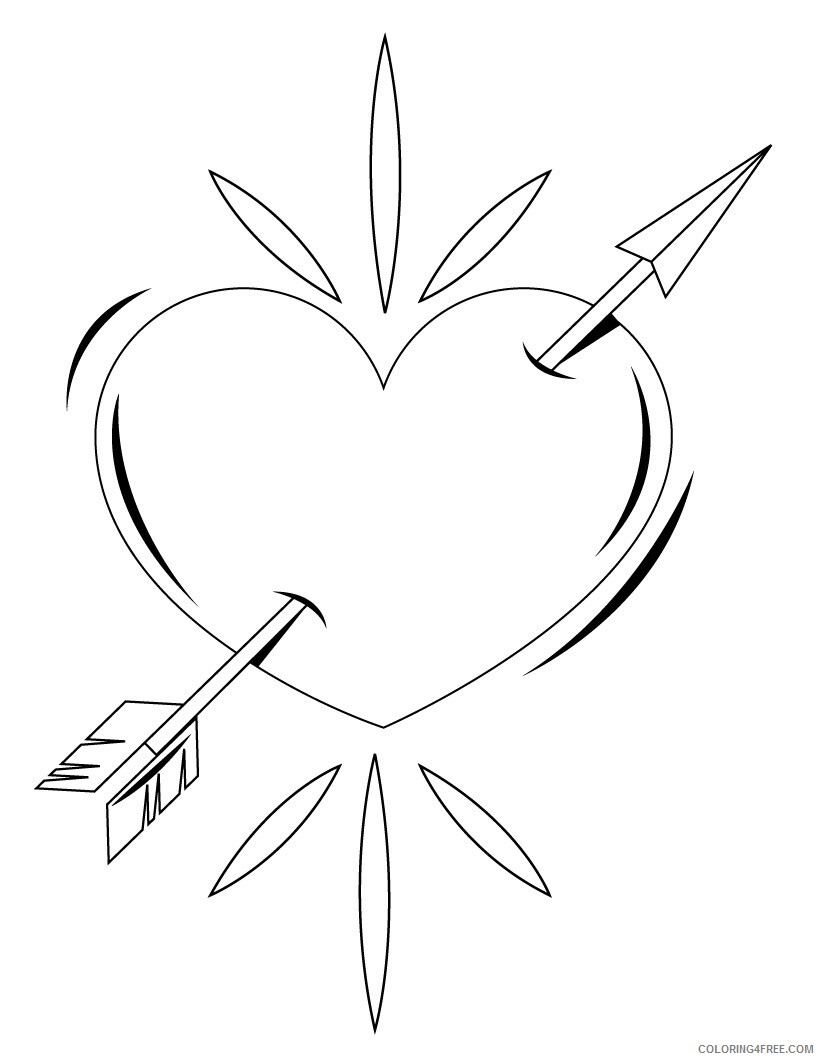 Heart Coloring Pages Heart Printable 2021 3139 Coloring4free