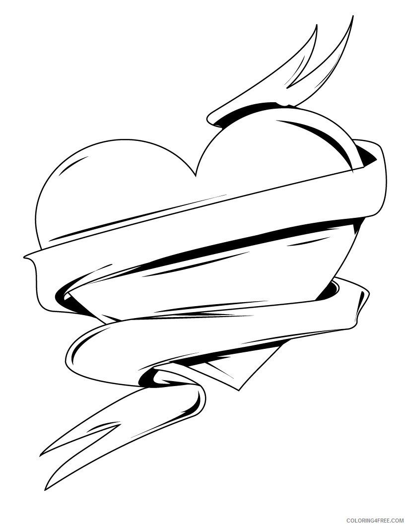 Heart Coloring Pages Heart Printable 2021 3156 Coloring4free
