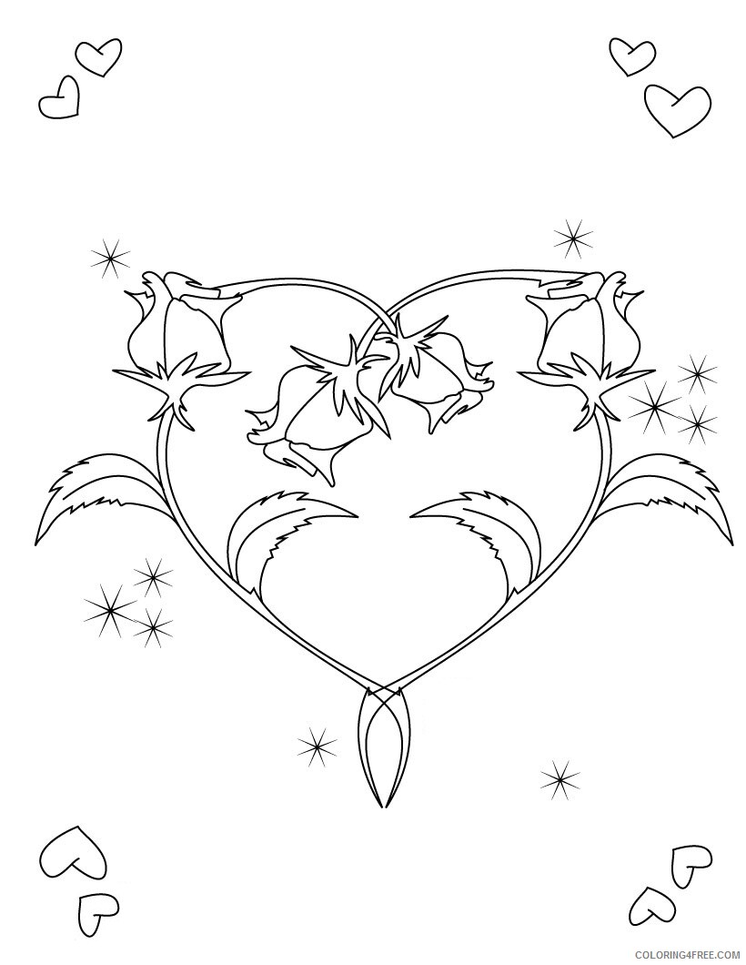 Heart Coloring Pages Heart Shaped Printable 2021 3181 Coloring4free