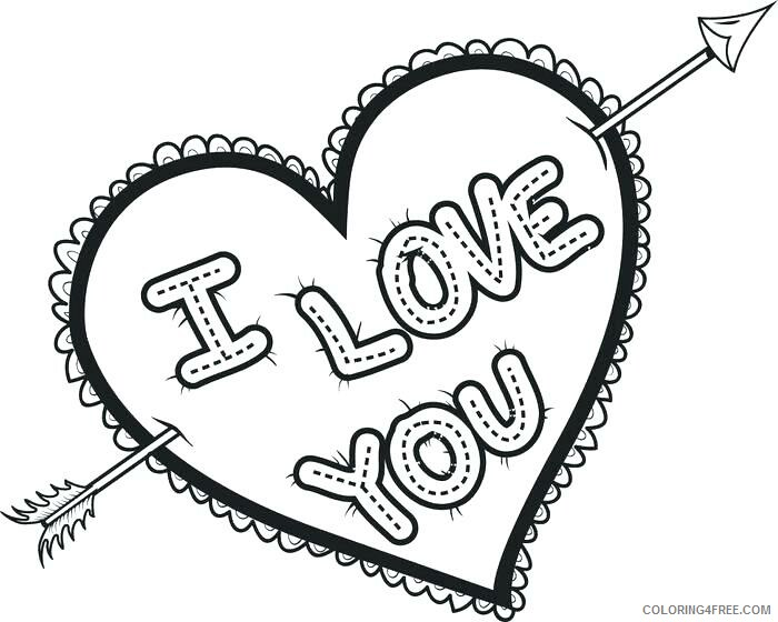 Heart Coloring Pages I Love You Heart Printable 2021 3192 Coloring4free