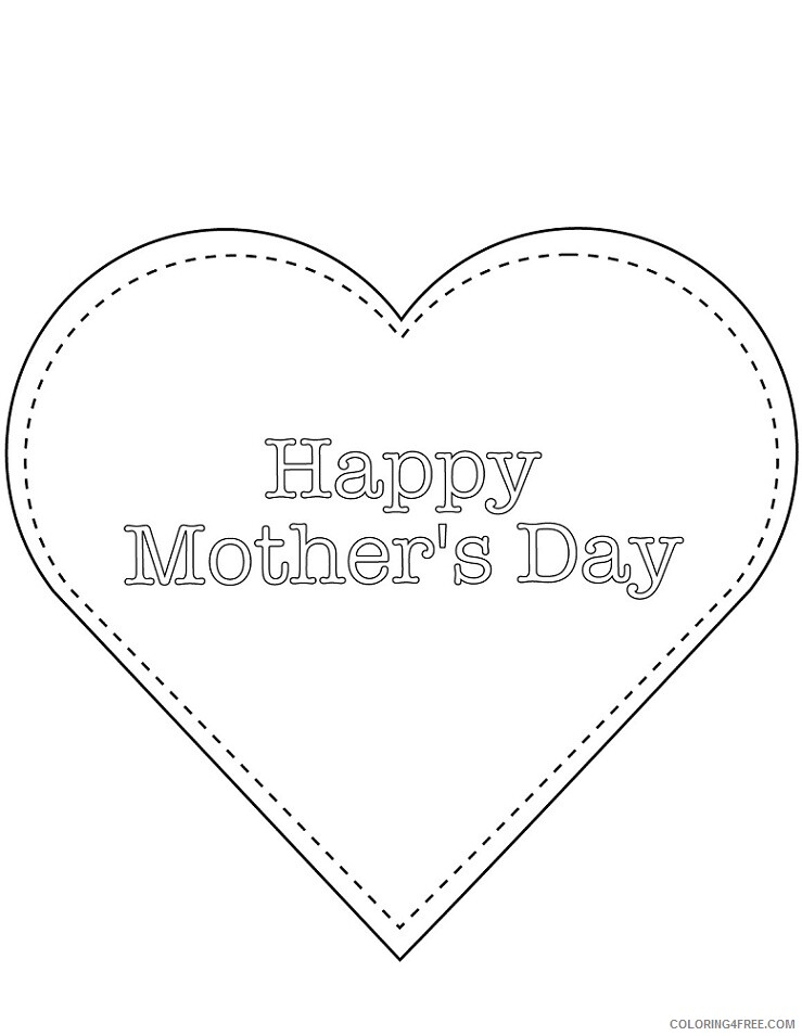 Heart Coloring Pages happy mothers day Printable 2021 3153 Coloring4free