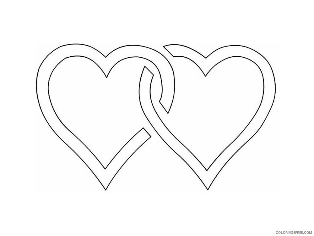 Heart Coloring Pages heart stencils 25 Printable 2021 3188 Coloring4free