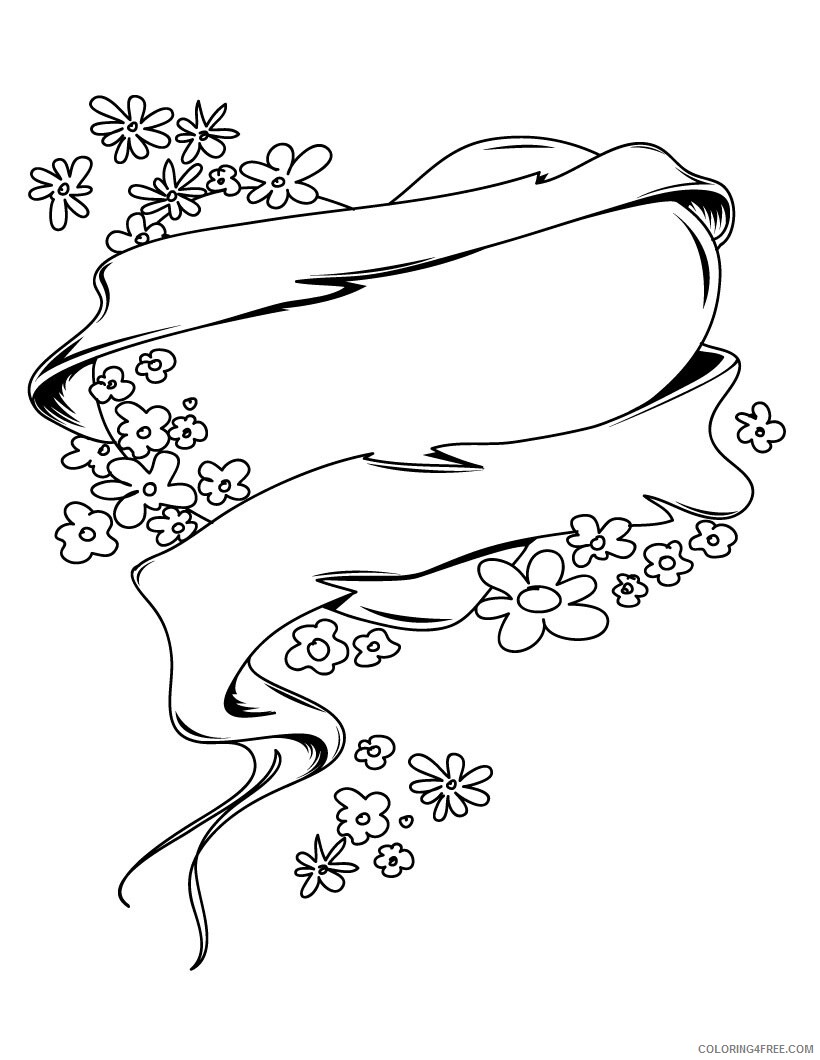 Heart Coloring Pages of Hearts and Flowers Printable 2021 3142 Coloring4free