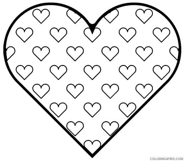 Hearts Coloring Pages Heart Printable 2021 3237 Coloring4free