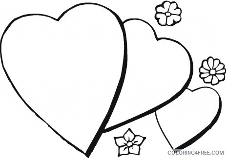 Hearts Coloring Pages Heart Sheets for Kids Printable 2021 3238 Coloring4free