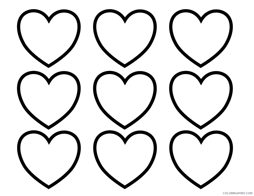 Hearts Coloring Pages Small Heart Printable 2021 3258 Coloring4free