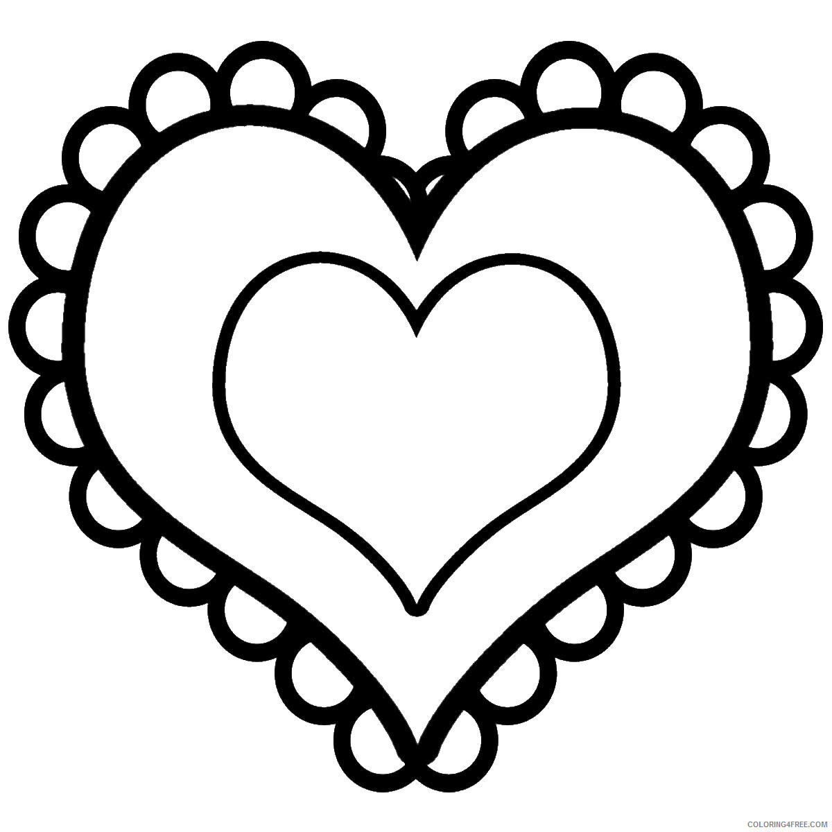 Hearts Coloring Pages hearts_cl_12 Printable 2021 3245 Coloring4free