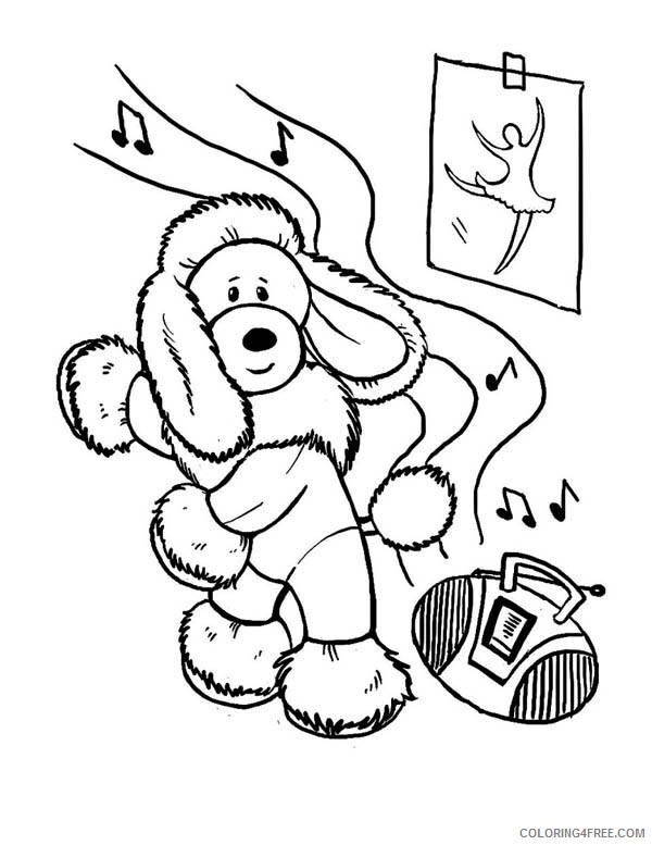 Hip Hop Rap Coloring Pages Hip Hop Poodle Dance Printable 2021 3272 Coloring4free