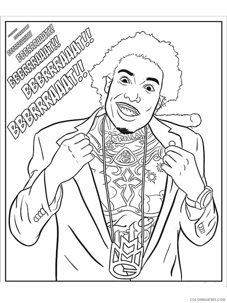 Hip Hop Rap Coloring Pages Hip Hop Rap 1 Printable 2021 3273 Coloring4free